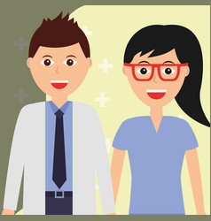 doctor and surgeon female healthcare and medical vector image