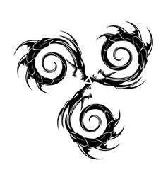 dragon triksel 0003 vector image