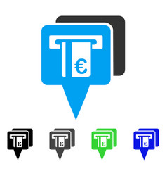 Euro atm pointers flat icon vector