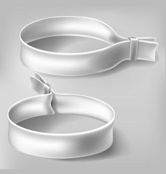 festival party white wristbands vector image