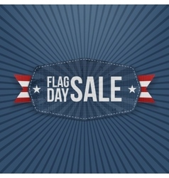 Flag Day Sale patriotic Banner with Ribbon vector image
