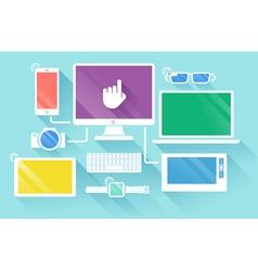flat design vector image