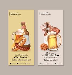 Flyer design with oktoberfest concept beer vector