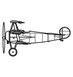 Fokker dri triplane dreidecker vector