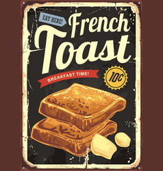 French toast restaurant sign vector