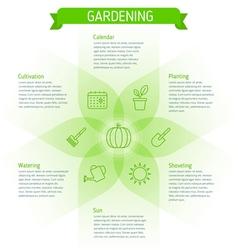 Gardening infographic elements vector