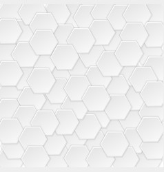 geometric pattern with white hexagons vector image