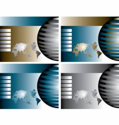 globe backgrounds vector image