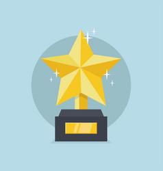 golden star trophy vector image
