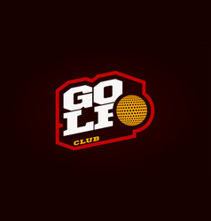 golf mascot modern professional sport typography vector image