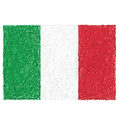 Hand drawn of flag of Italy vector