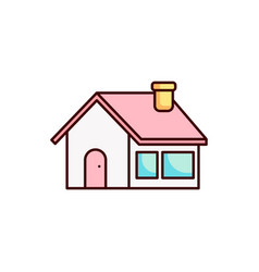 home icon house real estate vector image
