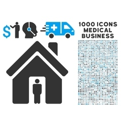 House owner icon with 1000 medical business vector