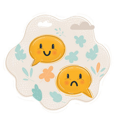 icon smiley faces sad vector image