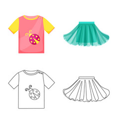 Isolated object fashion and garment sign vector