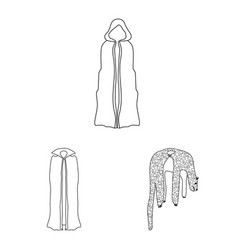 Isolated object robe and garment logo vector