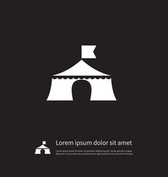 isolated tent icon outdoor element can be vector image