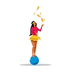 Juggler girl Cartoon vector
