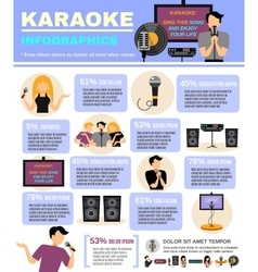 Karaoke Infographics Set vector