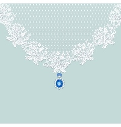 Lace with jewelry vector