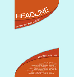 Leaflet template with place for your image vector