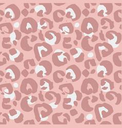 leopard print seamless pattern hand drawn vector image