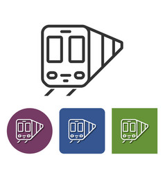 Line icon of train in different variants vector