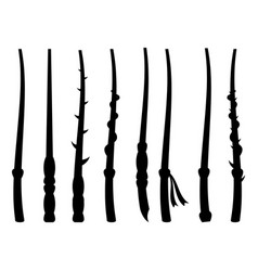 Magic wands silhouette on a white background vector