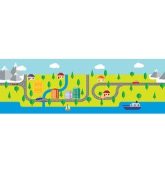 map small town and countryside vector image