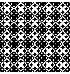 monochrome geometrical curved star pattern vector image