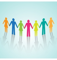 multi-color human community pictograms vector image