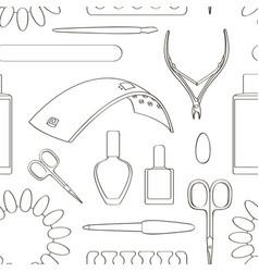 Nail salon set pattern vector