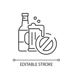 No alcohol linear icon vector