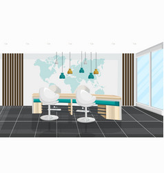 office desk and chairs meeting room business vector image