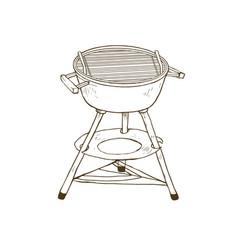 Outdoor grill sketch vector