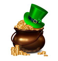 patricks day realistic composition vector image