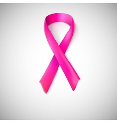 Pink ribbon loop vector image