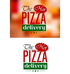 Pizza Delivery emblem or label vector image