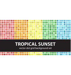 polka dot pattern set tropical sunset seamless vector image