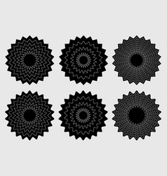 Radial contour elements with distorted decorative vector