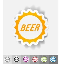 Realistic design element bottle cap vector