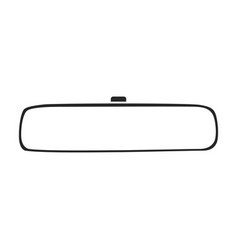 Rear view mirrors iconblack icon vector