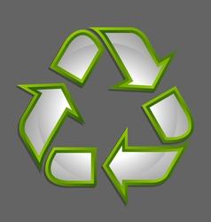 Recycle symbol icon vector image
