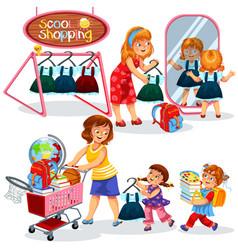 school shopping poster vector image