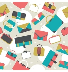 Seamless pattern fashion bags and clutches in vector