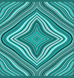 seamless retro pattern with turquoise wavy lines vector image
