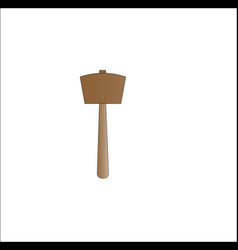 simple hammer made of woood vector image