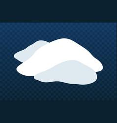 snow pile set ice winter design white blue vector image