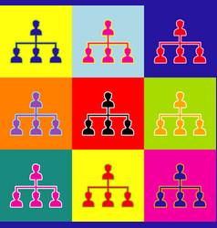 social media marketing sign pop-art style vector image