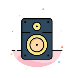 Speaker loud music education abstract flat color vector